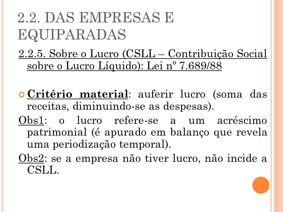 2.2. DAS EMPRESAS E EQUIPARADAS