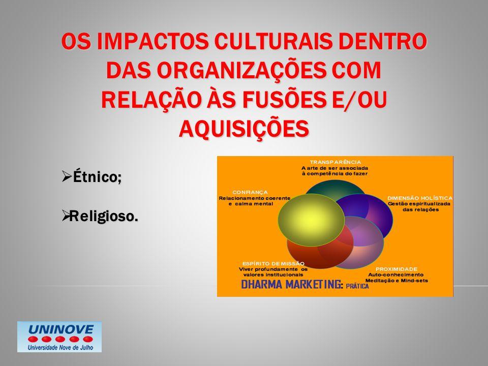 OS IMPACTOS CULTURAIS DENTRO DAS ORGANIZAÇÕES COM RELAÇÃO ÀS FUSÕES E/OU AQUISIÇÕES
