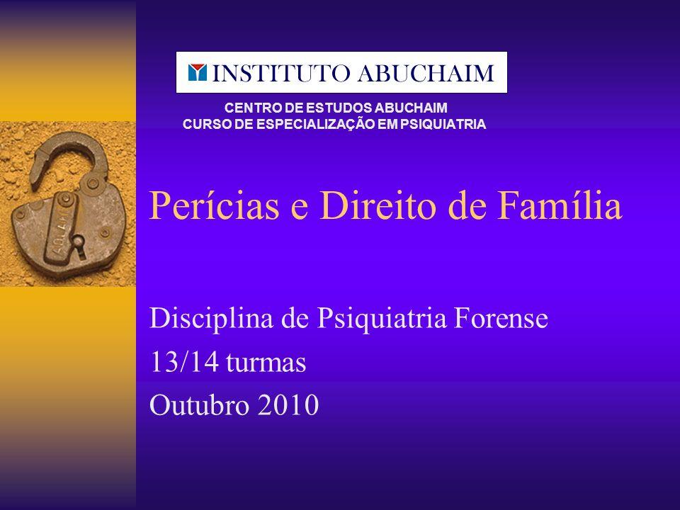 Perícias e Direito de Família