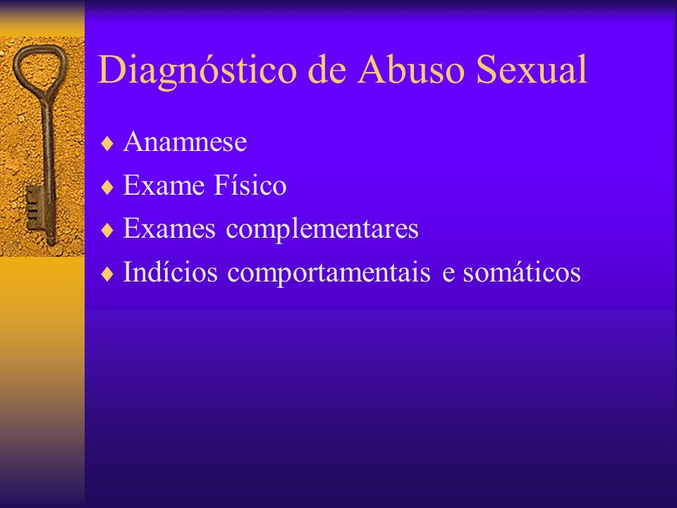 Diagnóstico de Abuso Sexual