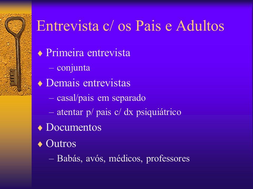 Entrevista c/ os Pais e Adultos