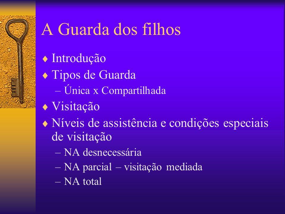 A Guarda dos filhos Introdução Tipos de Guarda Visitação
