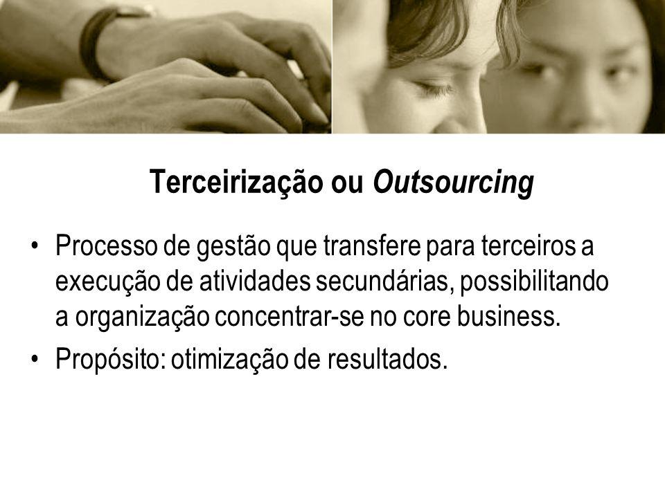 Terceirização ou Outsourcing