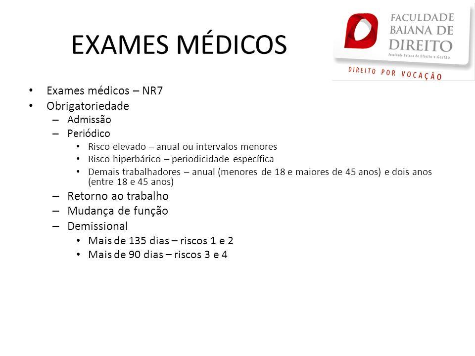 EXAMES MÉDICOS Exames médicos – NR7 Obrigatoriedade