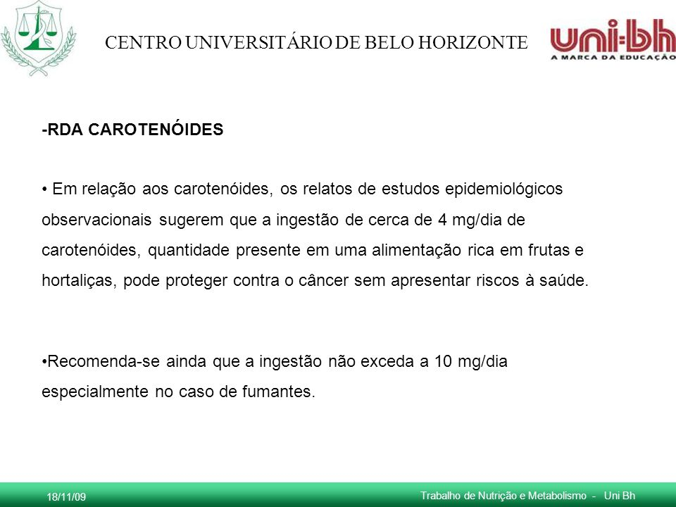 -RDA CAROTENÓIDES