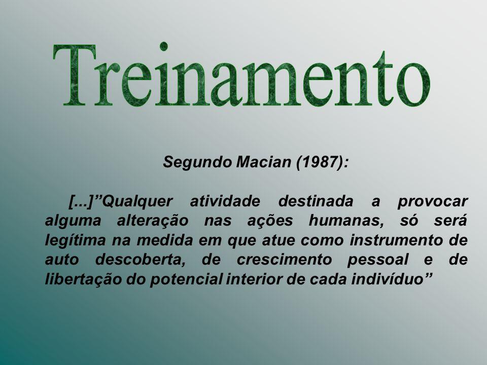 Treinamento Segundo Macian (1987):
