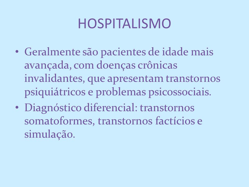 HOSPITALISMO