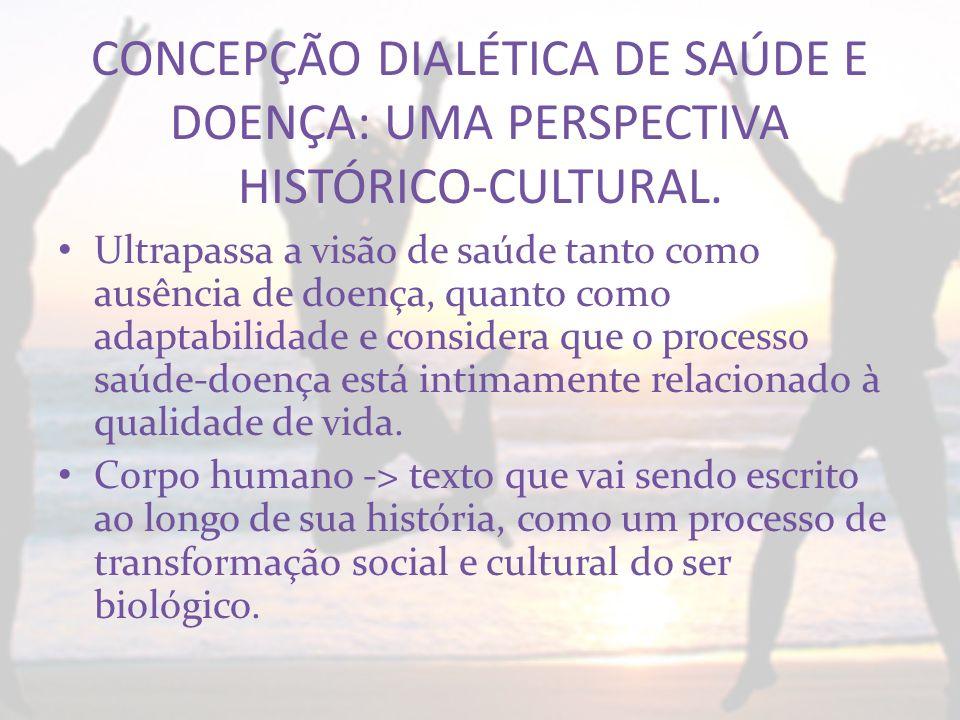 CONCEPÇÃO DIALÉTICA DE SAÚDE E DOENÇA: UMA PERSPECTIVA HISTÓRICO-CULTURAL.
