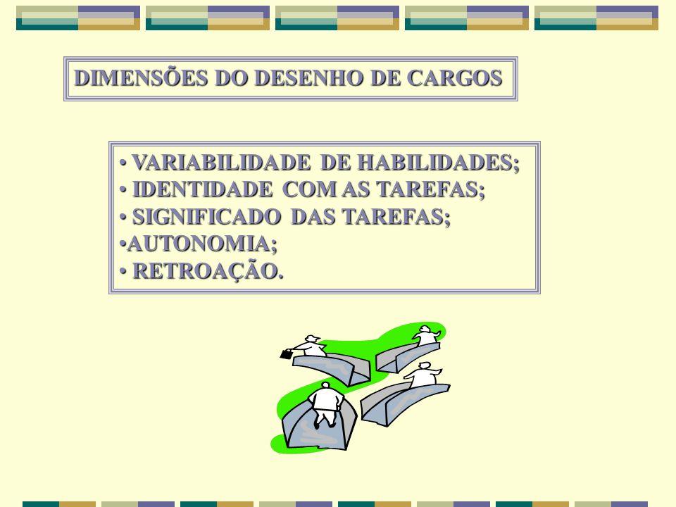 DIMENSÕES DO DESENHO DE CARGOS