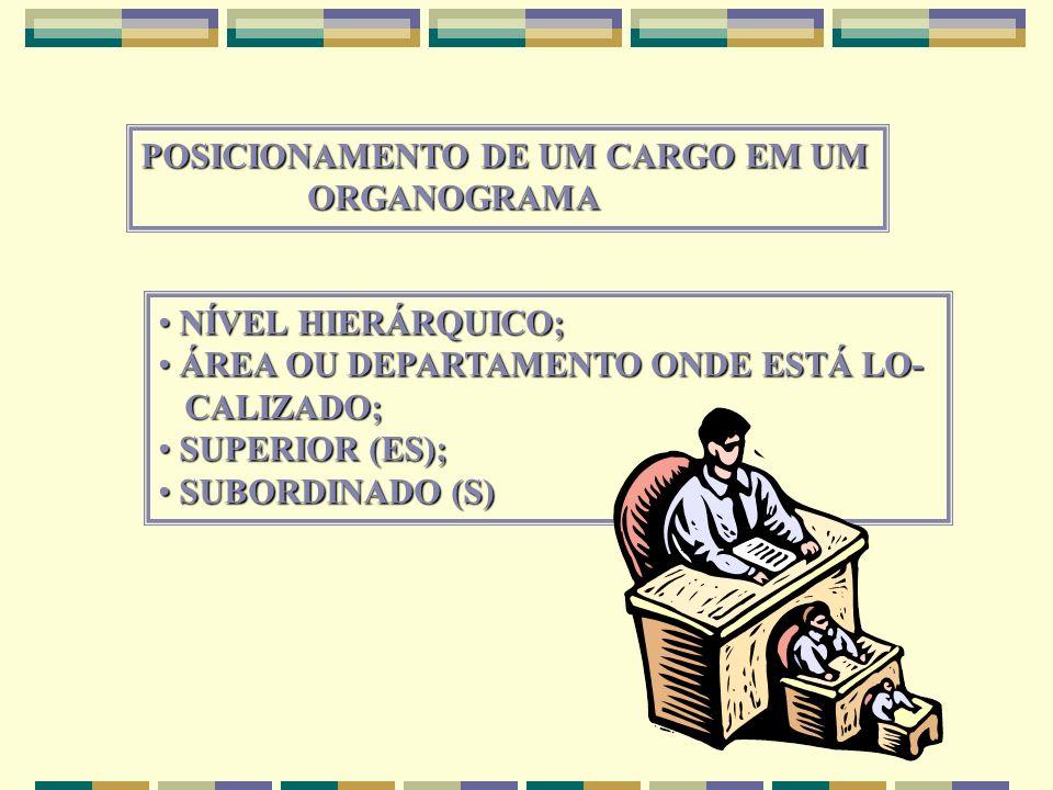 POSICIONAMENTO DE UM CARGO EM UM