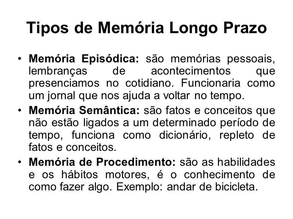 Tipos de Memória Longo Prazo