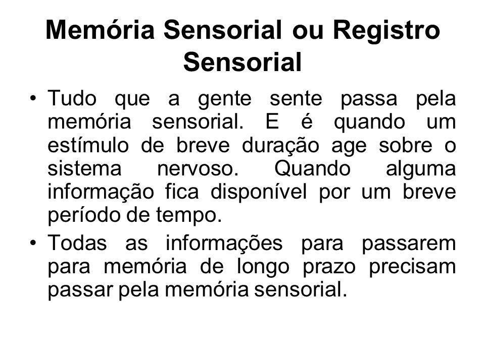 Memória Sensorial ou Registro Sensorial