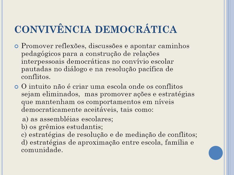 CONVIVÊNCIA DEMOCRÁTICA