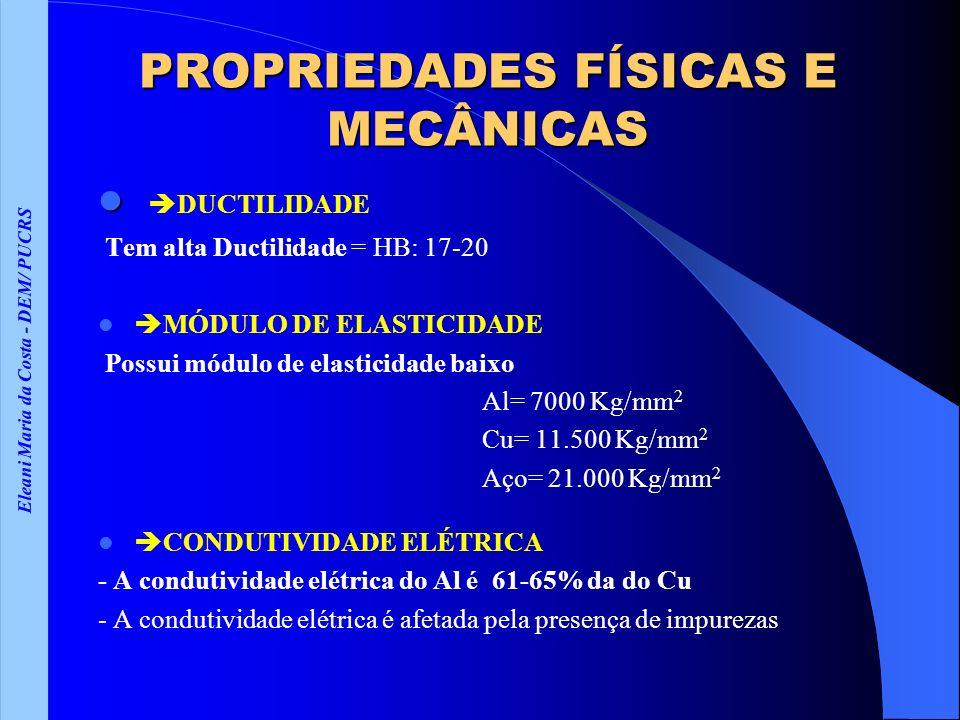 PROPRIEDADES FÍSICAS E MECÂNICAS