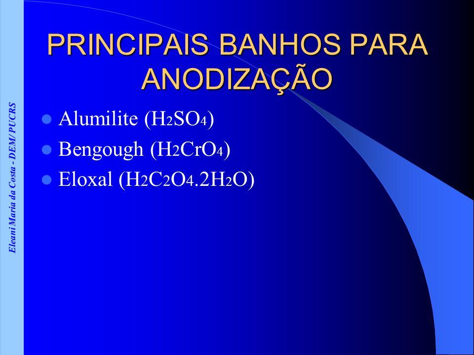 PRINCIPAIS BANHOS PARA ANODIZAÇÃO
