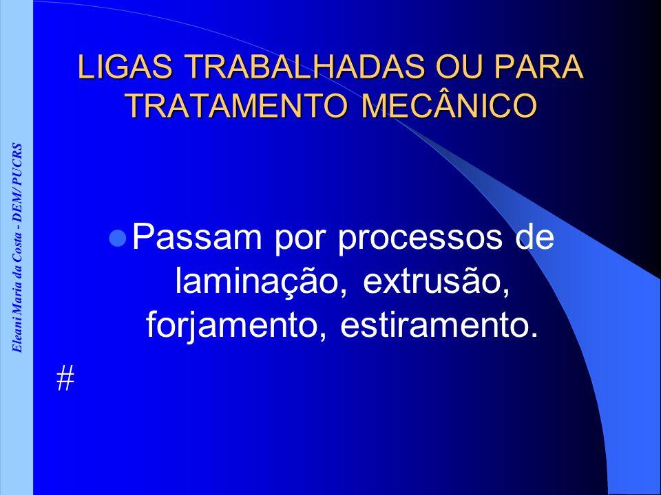 LIGAS TRABALHADAS OU PARA TRATAMENTO MECÂNICO
