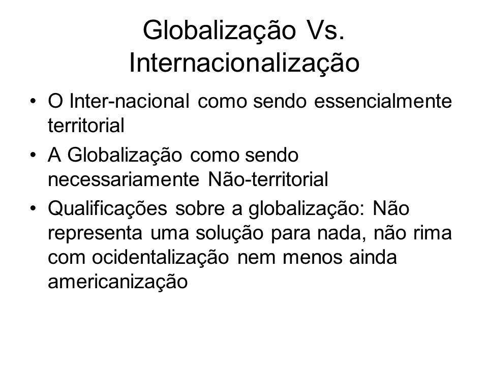 Globalização Vs. Internacionalização