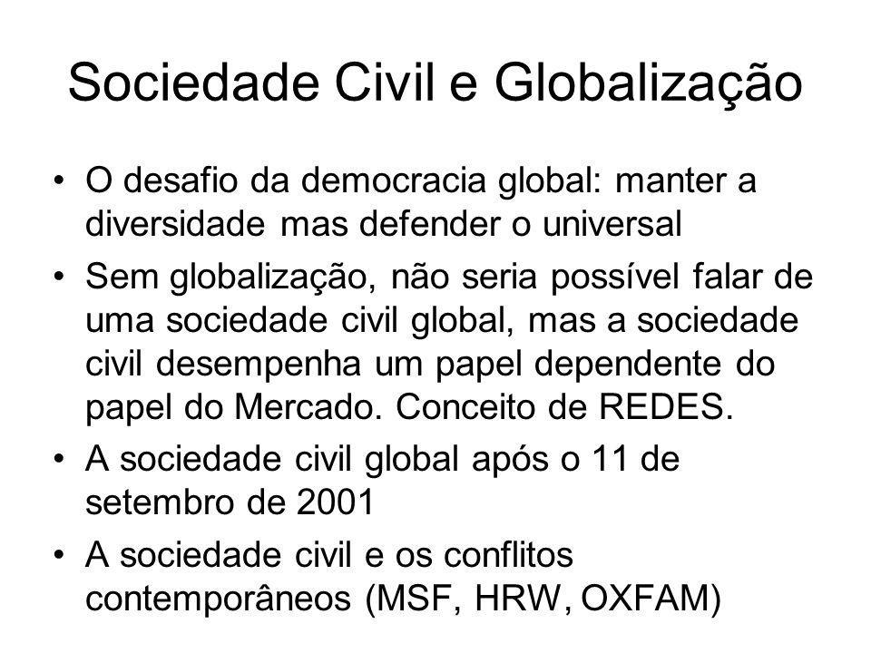 Sociedade Civil e Globalização