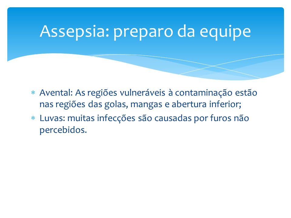 Assepsia: preparo da equipe