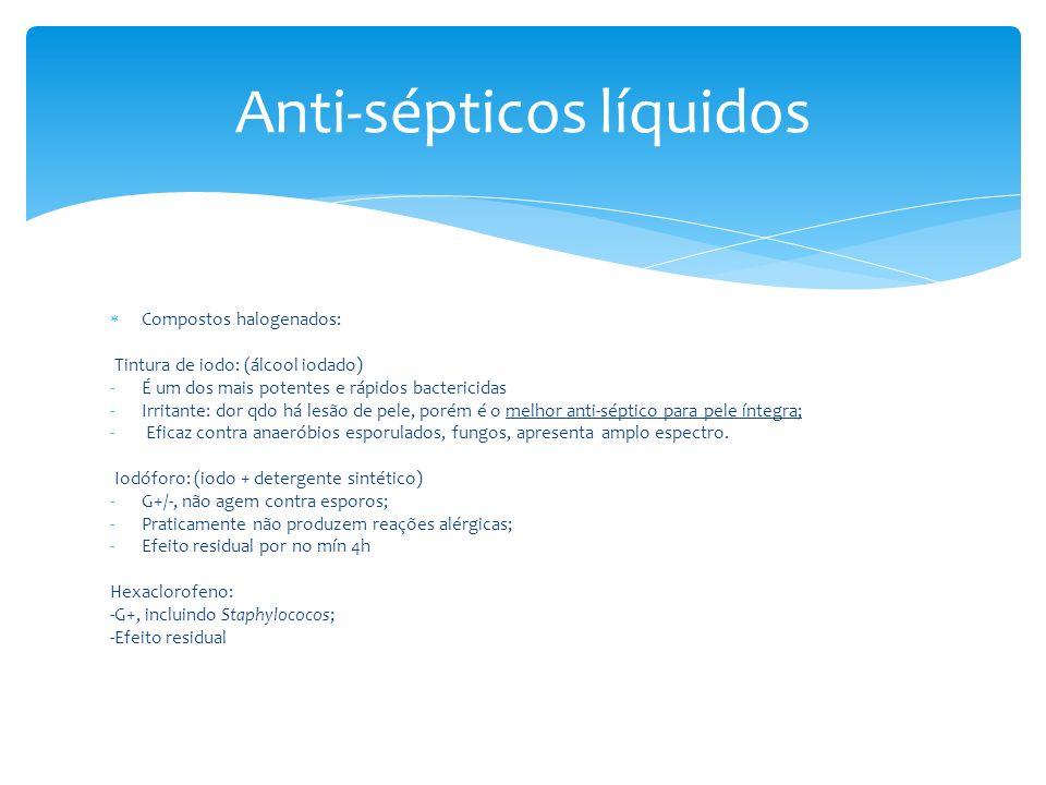 Anti-sépticos líquidos