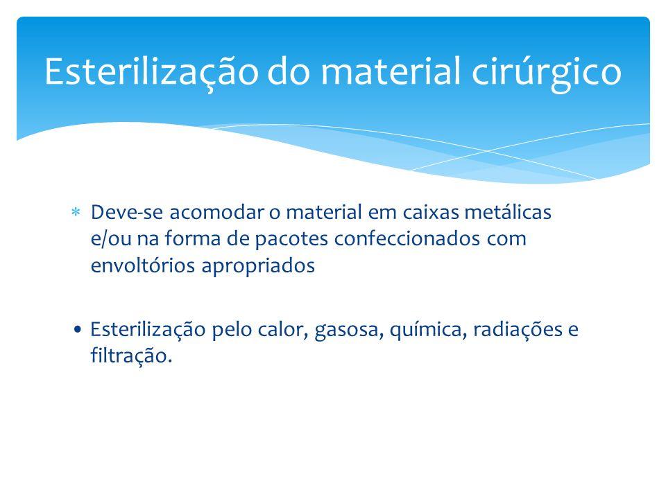 Esterilização do material cirúrgico