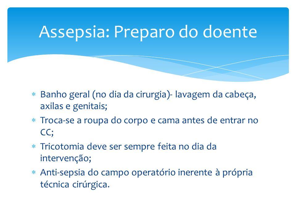 Assepsia: Preparo do doente
