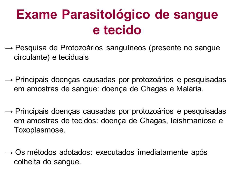 Exame Parasitológico de sangue e tecido
