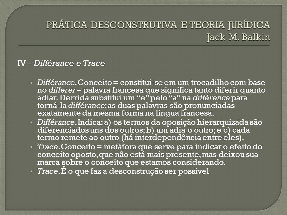 PRÁTICA DESCONSTRUTIVA E TEORIA JURÍDICA Jack M. Balkin