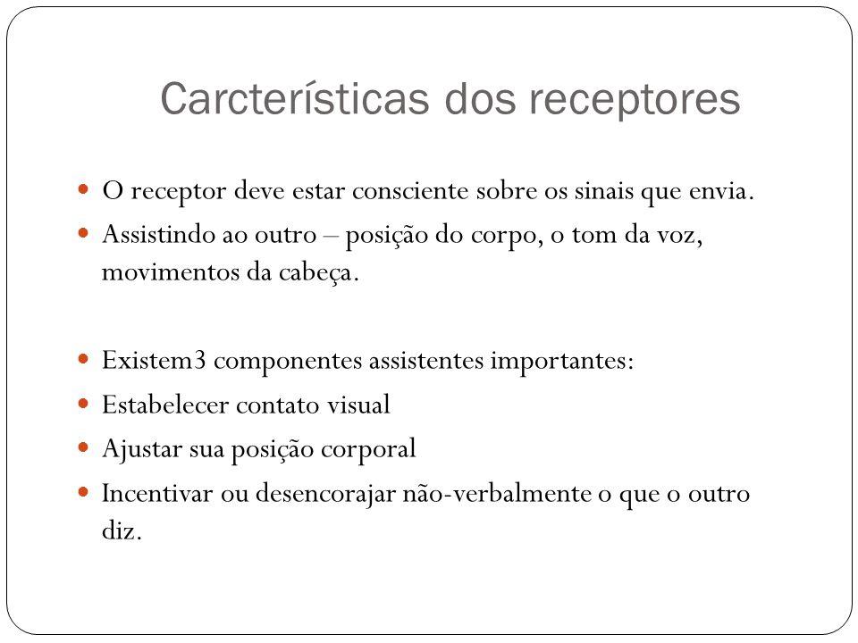 Carcterísticas dos receptores