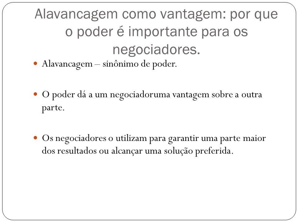 Alavancagem como vantagem: por que o poder é importante para os negociadores.