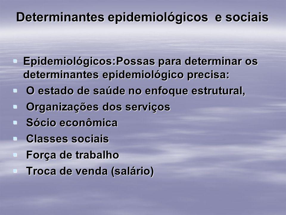 Determinantes epidemiológicos e sociais