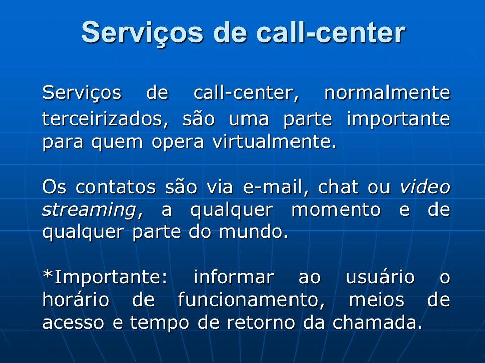 Serviços de call-center