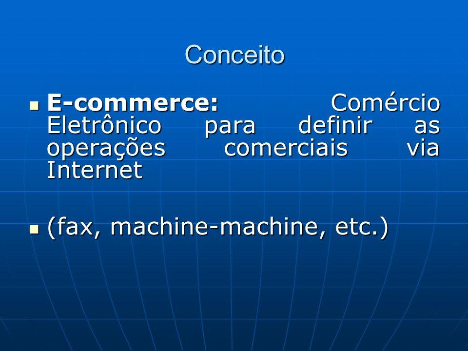 ConceitoE-commerce: Comércio Eletrônico para definir as operações comerciais via Internet.