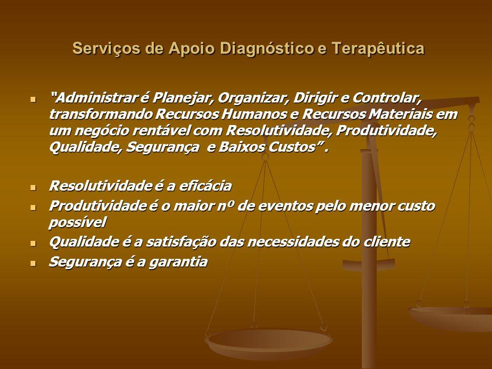 Serviços de Apoio Diagnóstico e Terapêutica