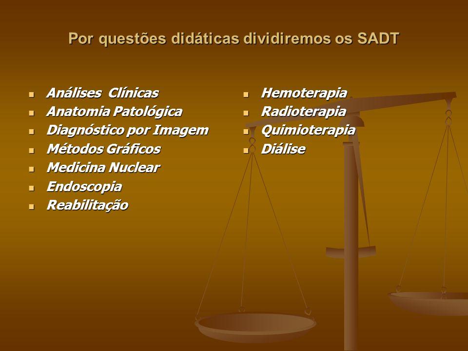 Por questões didáticas dividiremos os SADT