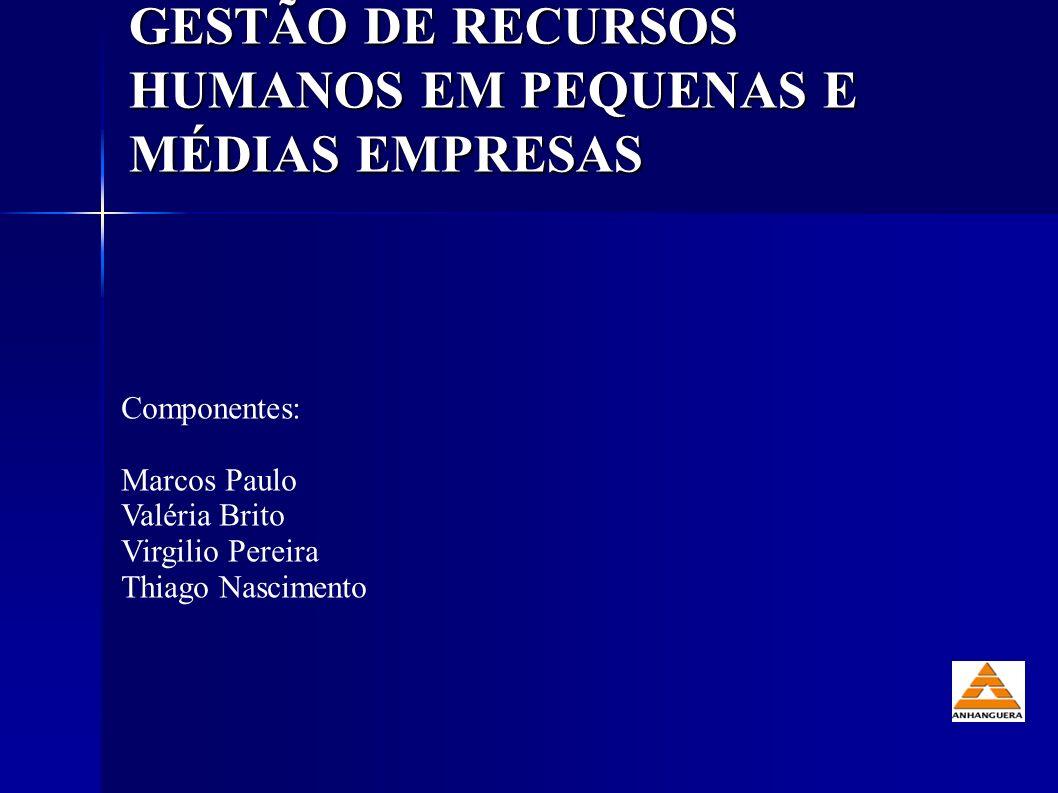 GESTÃO DE RECURSOS HUMANOS EM PEQUENAS E MÉDIAS EMPRESAS