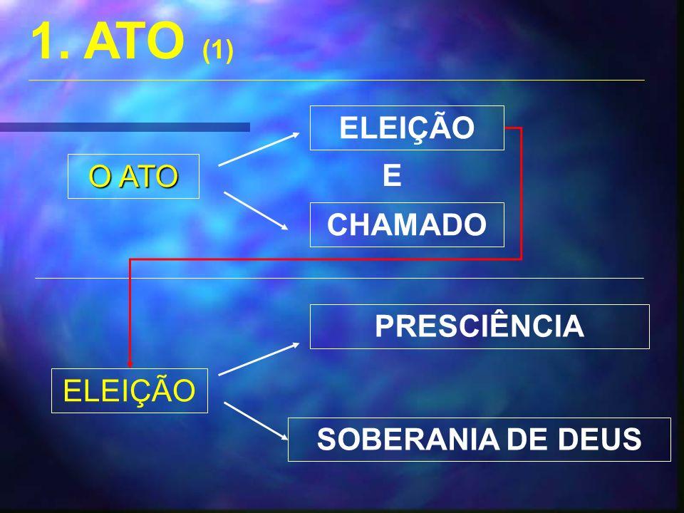 1. ATO (1) ELEIÇÃO O ATO E CHAMADO PRESCIÊNCIA ELEIÇÃO
