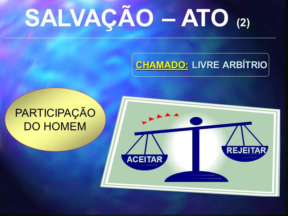 SALVAÇÃO – ATO (2) PARTICIPAÇÃO DO HOMEM CHAMADO: LIVRE ARBÍTRIO
