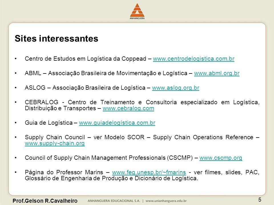 Sites interessantes Centro de Estudos em Logística da Coppead – www.centrodelogistica.com.br.
