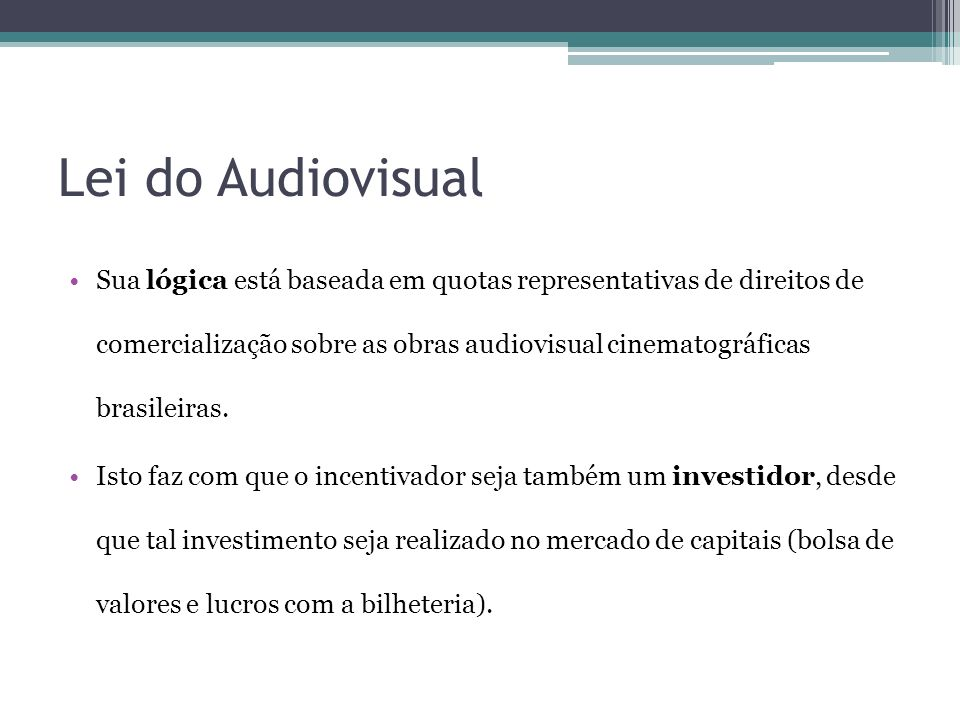 Lei do Audiovisual