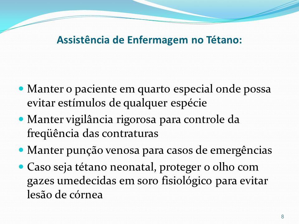 Assistência de Enfermagem no Tétano: