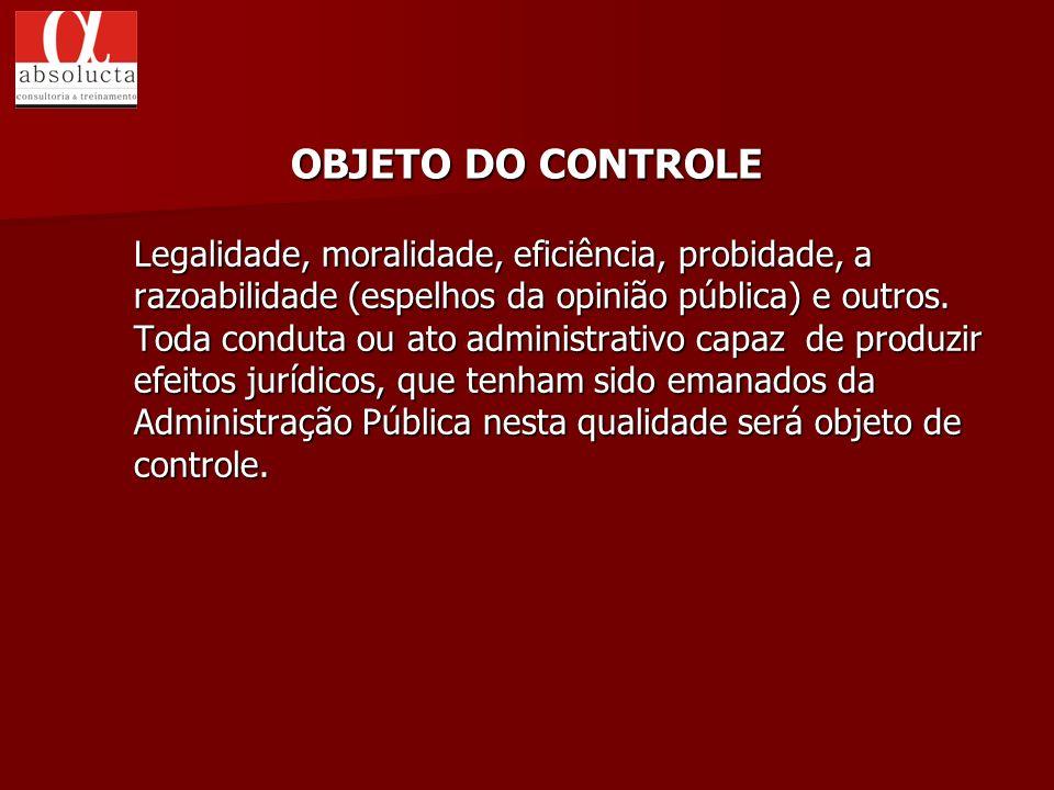 OBJETO DO CONTROLE