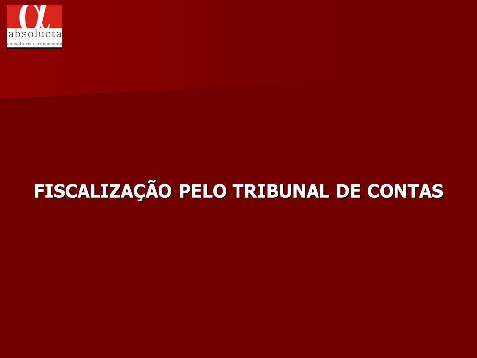 FISCALIZAÇÃO PELO TRIBUNAL DE CONTAS