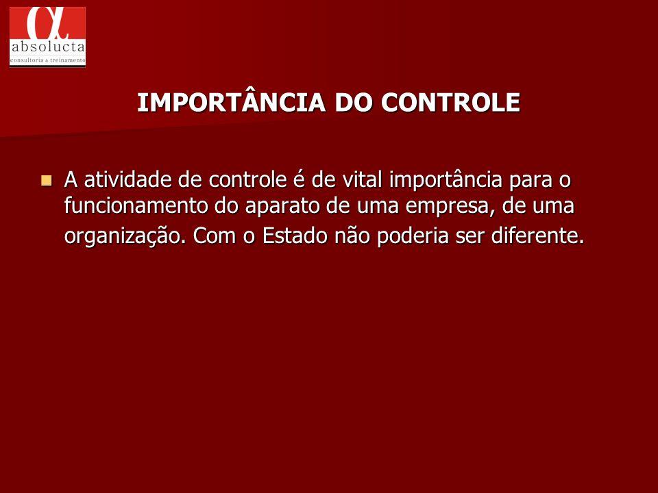 IMPORTÂNCIA DO CONTROLE
