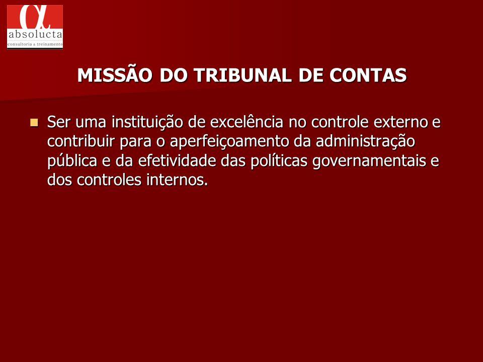 MISSÃO DO TRIBUNAL DE CONTAS