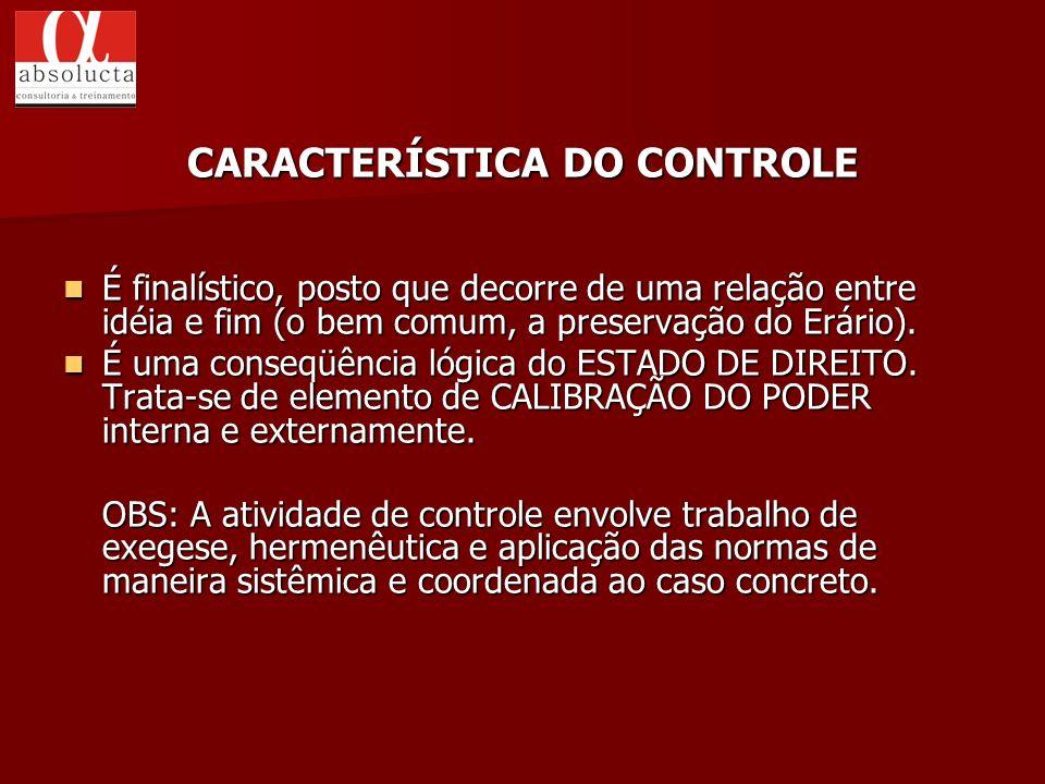CARACTERÍSTICA DO CONTROLE