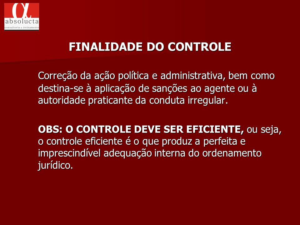 FINALIDADE DO CONTROLE