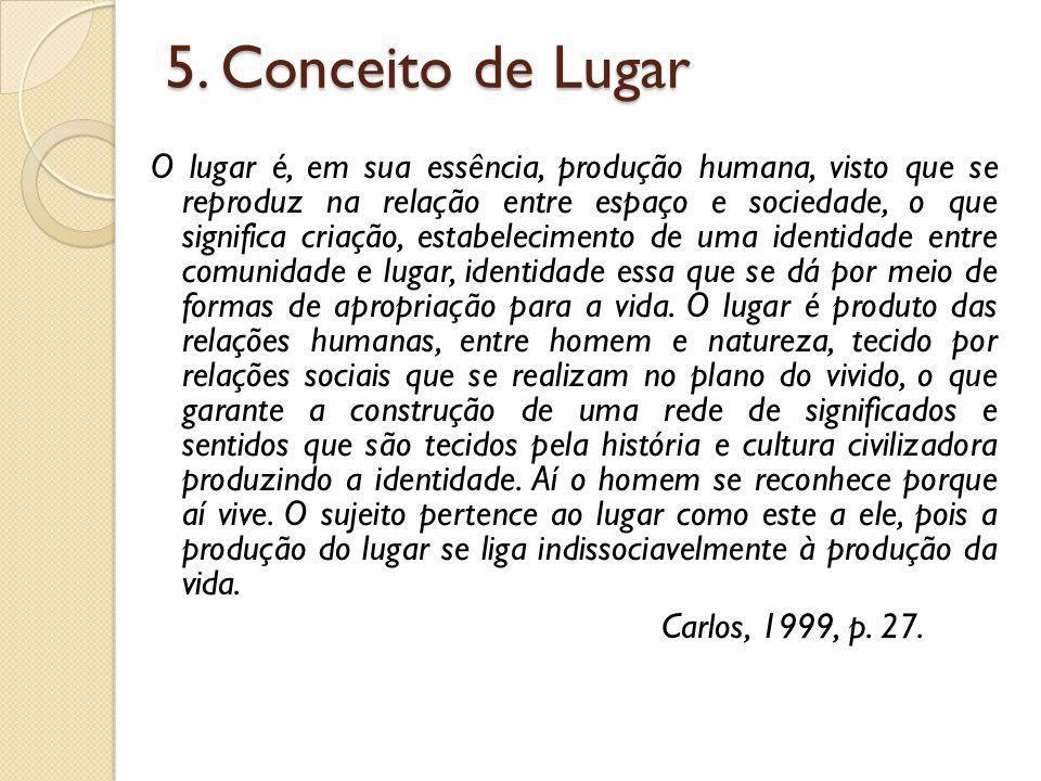 5. Conceito de Lugar
