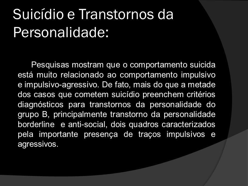 Suicídio e Transtornos da Personalidade: