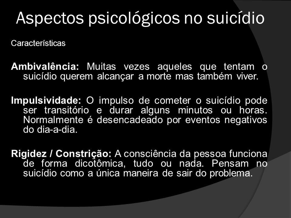 Aspectos psicológicos no suicídio